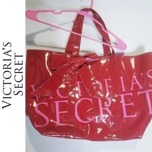 Very Large Victoria's Secret Tote Bag Logo Red Bow